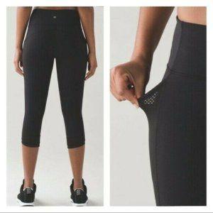 Lululemon Fit Physique Crop Pants Black Pocket